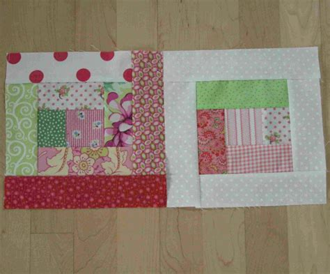 scrappy log cabin quilt blocks favequilts