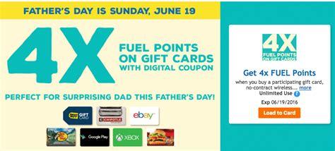 Kroger Bonus Fuel Points Gift Cards - kroger 4x fuel points on gift cards until 6 19 gift card deals doctor of credit