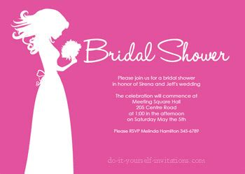 bridal shower invitations images free printable bridal shower invitations