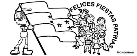 la bandera de honduras para colorear colorea tus dibujos fiestas patrias para colorear y pintar