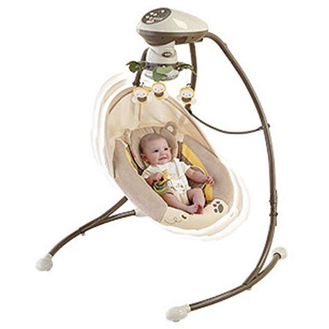 fisher baby swing fisher price my little snugabear cradle n swing