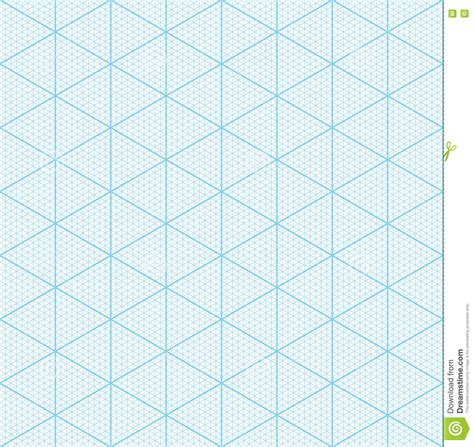 3d graph paper template isometric graph paper for 3d design stock vector image