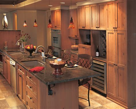 uncategorized incredible rustic red stained wooden rustic alder cabinet stain the clayton design
