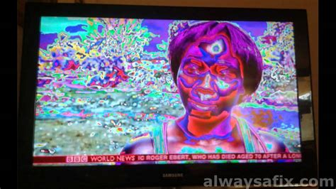 fix  samsung lcd tv colour display problem youtube