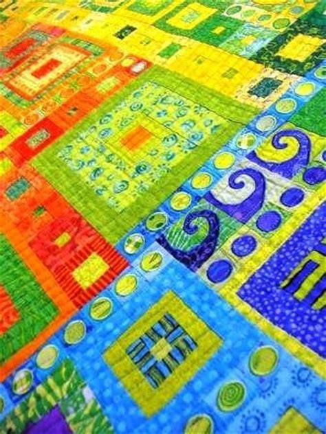 Colourful Quilts by Multi Color Quilt Anniebluesky Quilts