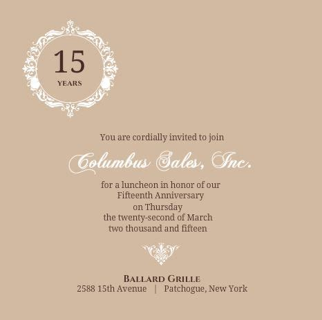 Wedding Announcement At Work by Business Anniversary Invitation Wording Ideas Etiquette Tips