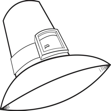 printable turkey hats free printable pilgrim hat coloring page for kids 2