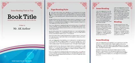 templates for word book booklet template office templates online