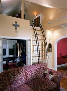 Ideas For Tiny Bathrooms Secret Loft Eclectic Living Room