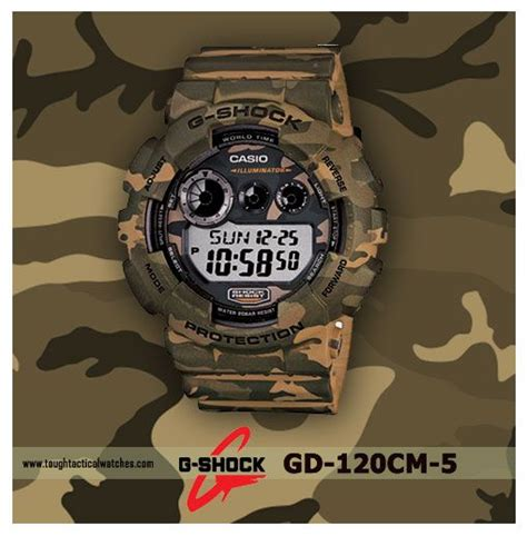 Casio Gshock Gd 120cm 4 Read Army g shock gd 120cm 5 woodland camo series toughest casio g