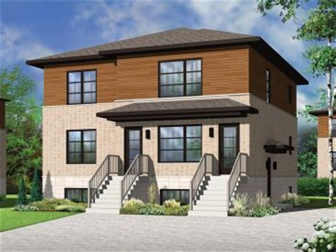 multi family house plans triplexes townhouses the house