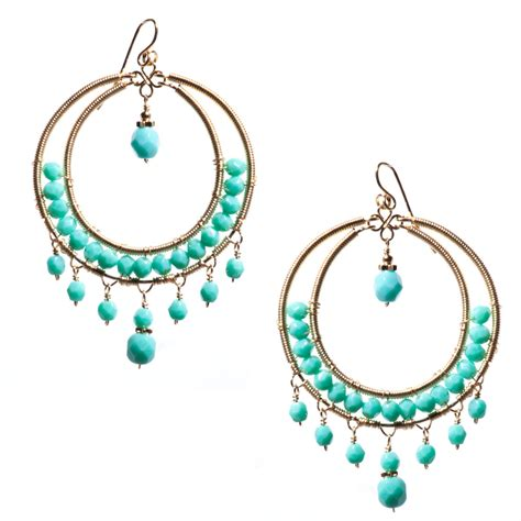 Turquoise Chandelier Earrings Turquoise Chandelier Earrings Bohemian Chandelier Earrings
