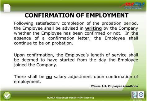 Confirmation Letter Before Probation Period Ppt Kontrak Pengurusan Fasiliti Kompleks Kastam