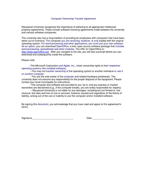property transfer agreement template 8 best images of property transfer agreement template