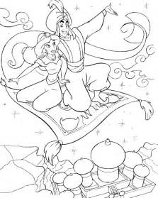 Aladdin And Jasmine Coloring Pages sketch template