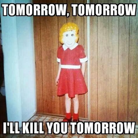 Funny Halloween Memes - little creepy annie my halloween meme halloweenie