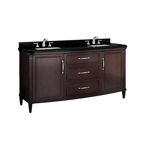 Bathroom Vanity With Granite Top Shop Ove Decors Rose Cocoa Undermount Double Sink Birch
