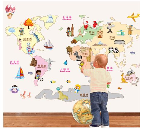 wall stickers map of the world new map of the world wall sticker for rooms earth