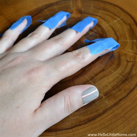 easy nail art with tape step by step easy striped nail art