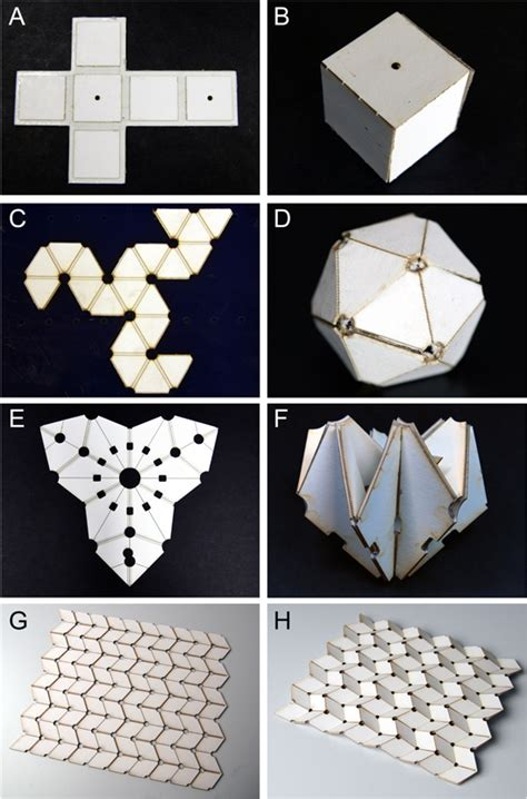 Self Folding Paper - self folding origami shape memory composites activated by