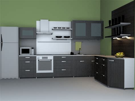 Kitchen Renovation Design by Modern Western Kitchen 3d Model 3dsmax Wavefront 3ds Files