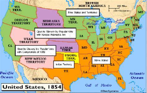 sectional compromise 1787 map of kansas nebraska act