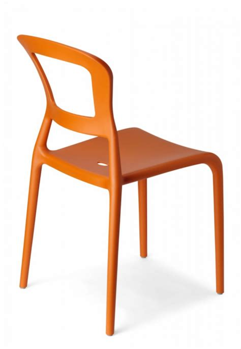 stuhl orange design stuhl kunststoff orange modern outdoor geeignet