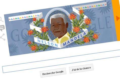 doodle nelson mandela rend hommage 224 nelson mandela