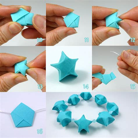 How To Fold A Paper Flower Step By Step - lucky folding steps by all things paper via