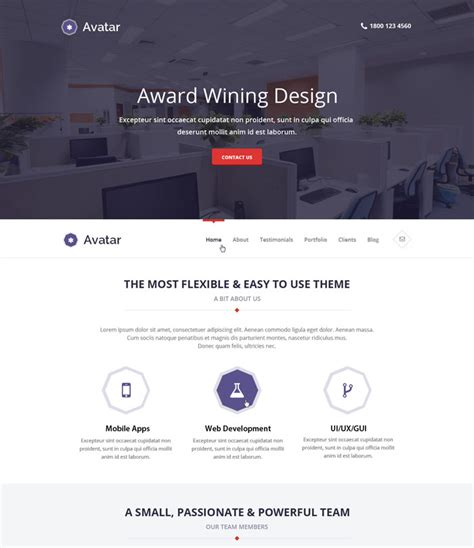Adila Premium 15 awesome premium psd minimal templates