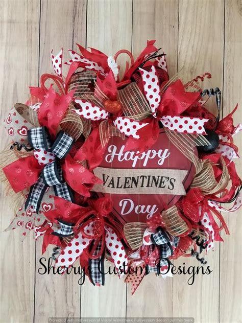 valentine decor valentines day valentine wreath