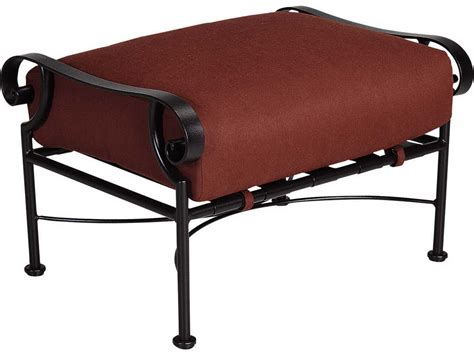 wrought iron patio ottoman ow st charles wrought iron ottoman 2690 o