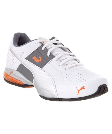 s cell surin 2 fm leather running shoe in white for lyst