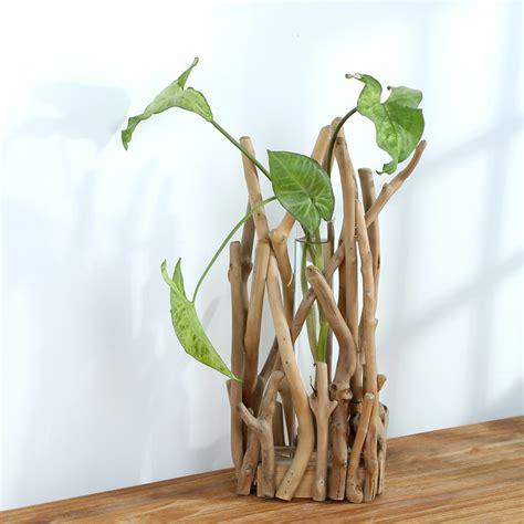 Test Tube Flower Vases 2015 Rustic Wedding Decoration Wooden Flower Pot Flower