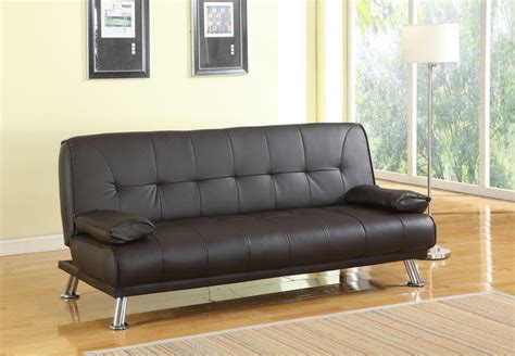 Brown Faux Leather Sofa Bed by Stunning 3 Seat Designer Sofa Bed Faux Leather Chrome New