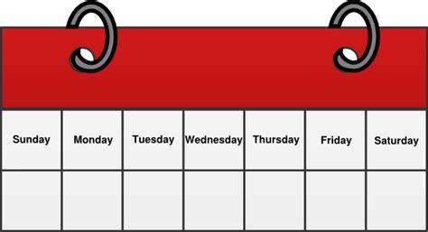 Week Clipart calendar clip at clker vector clip
