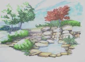jardin dessin maison jardin