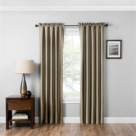 blackout rod pocket curtains eclipse blackout miles 95 in l latte rod pocket curtain