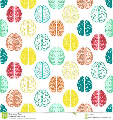 color pattern brain colorful seamless brain pattern scientific background