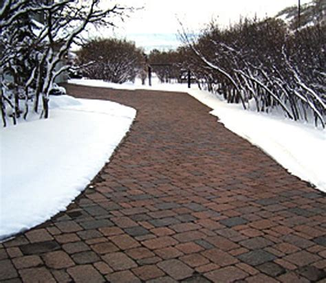 heated concrete patio install a heated driveway melt your troubles away