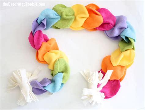 no sew rainbow fleece scarf kid friendly printable