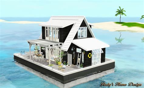 boat house zw sims3 the floating barn 水上船屋 ruby s home design