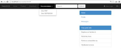 membuat menu website dengan html membuat menu dan sub menu responsive dengan bootstrap