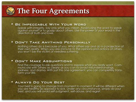 stuff i like the four agreements by miguel 193 ngel ruiz