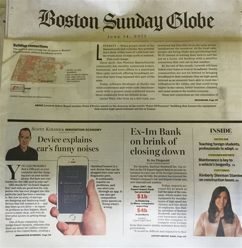 boston globe business section openbay covered this sunday s boston globe business section