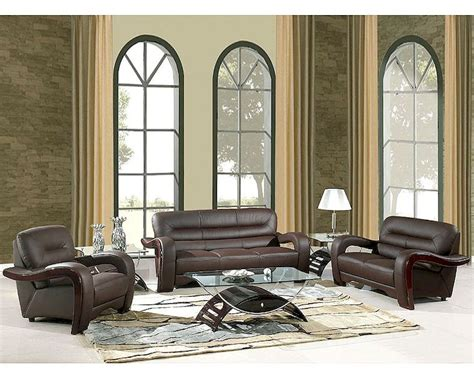 Eurodesign Brown Contemporary Leather Living Room Set Gf992bn Brown Leather Living Room Set