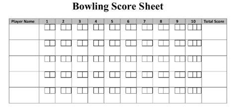 Ten Pin Bowling Score Sheet Template math focus on math