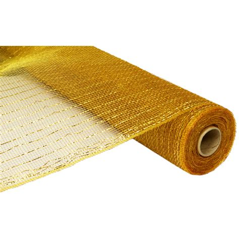 21 quot poly deco mesh metallic gold gold re100108