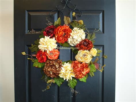 Fall Wreath Fall Wreaths For Front Door Wreaths Outdoor Outdoor Wreath For Front Door
