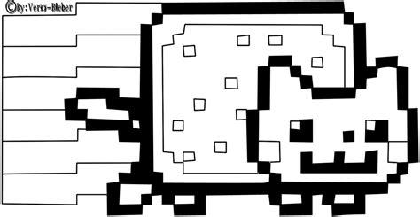 Nyan Cat Coloring Pages nyan cat by vero light on deviantart